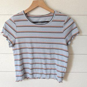 American Eagle Ribbed Striped Crop Tee M